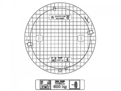 Stabiflex Schachtabdeckung-kunststoff NewEDITION Teleskop 600kg Zeichnung/Masse