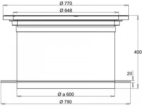 Stabiflex Schachtabdeckung-kunststoff NewEDITION Teleskop 600kg Zeichnung Seitenansicht